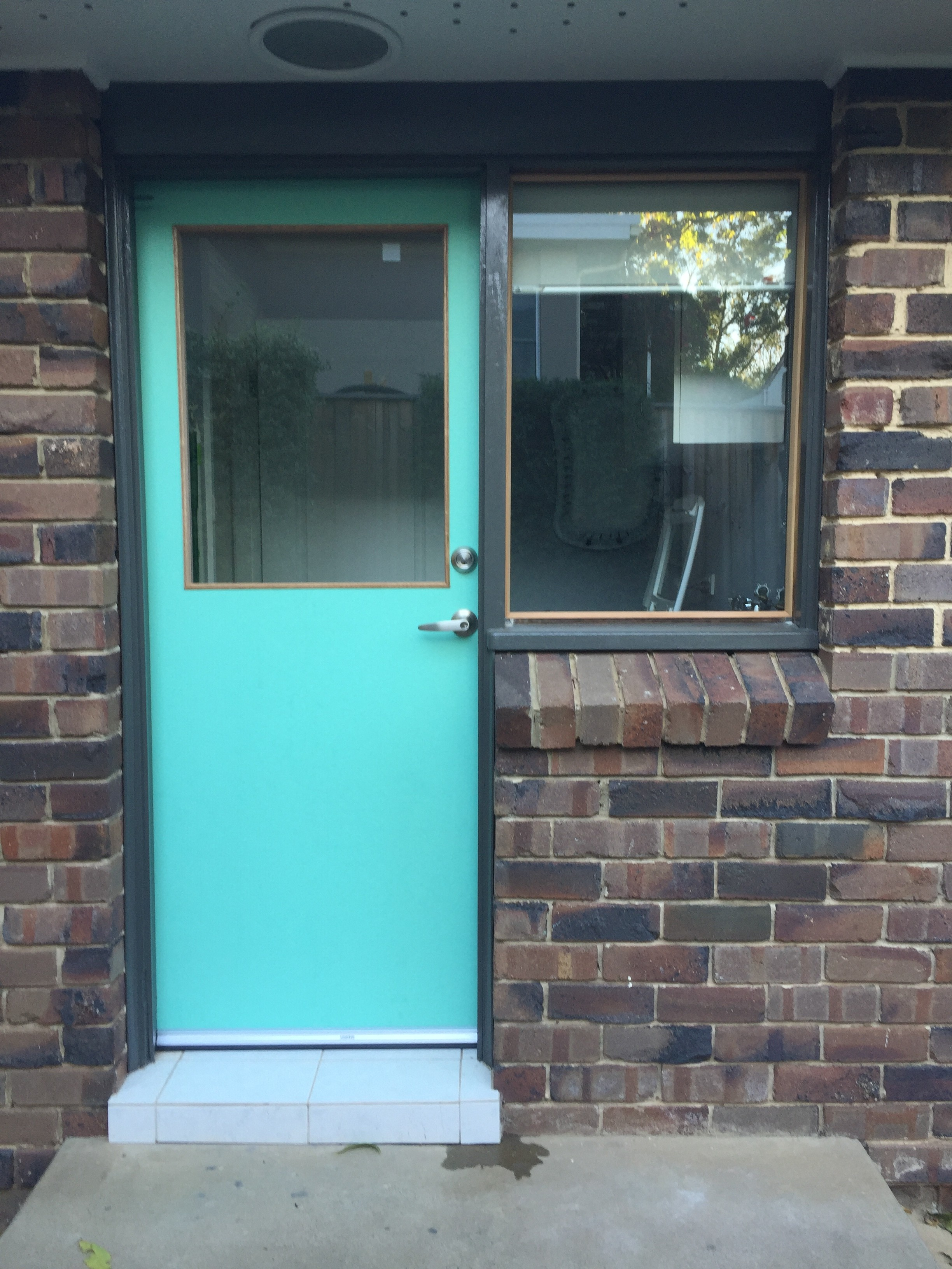 1c - New Exterior Door, New Glass Window