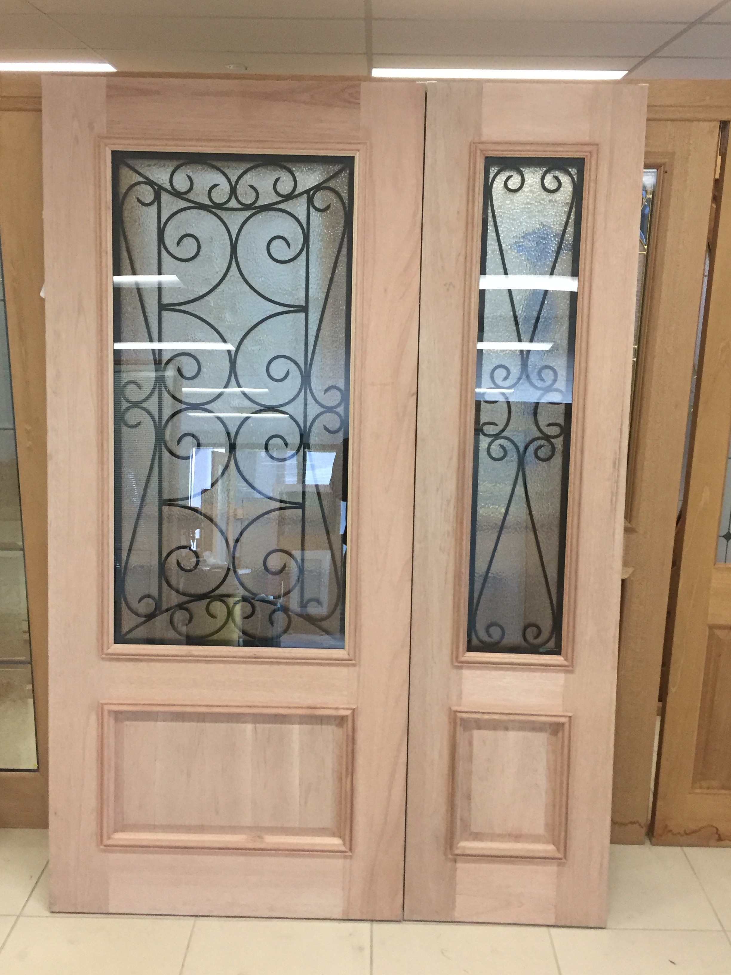 2 - Wrought Iron Entry Doors