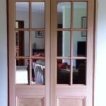 4a - Custom 8 Light Western Red Cedar Doors Fitting