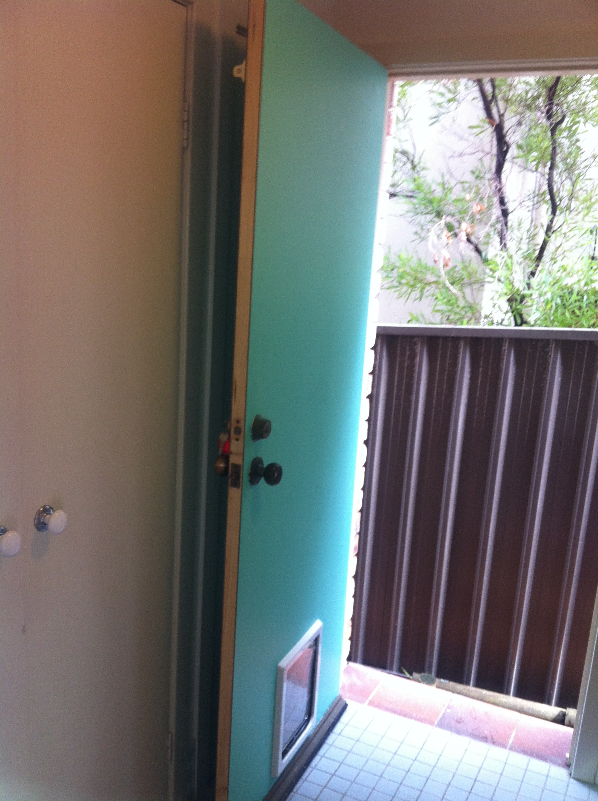 5c - New Solid Exterior Door Before Painting