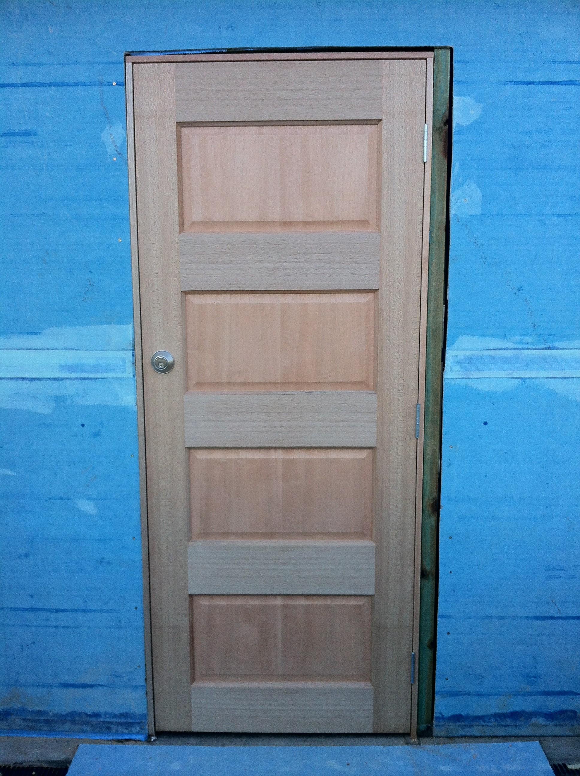 7 - Solid Timber Entry Door