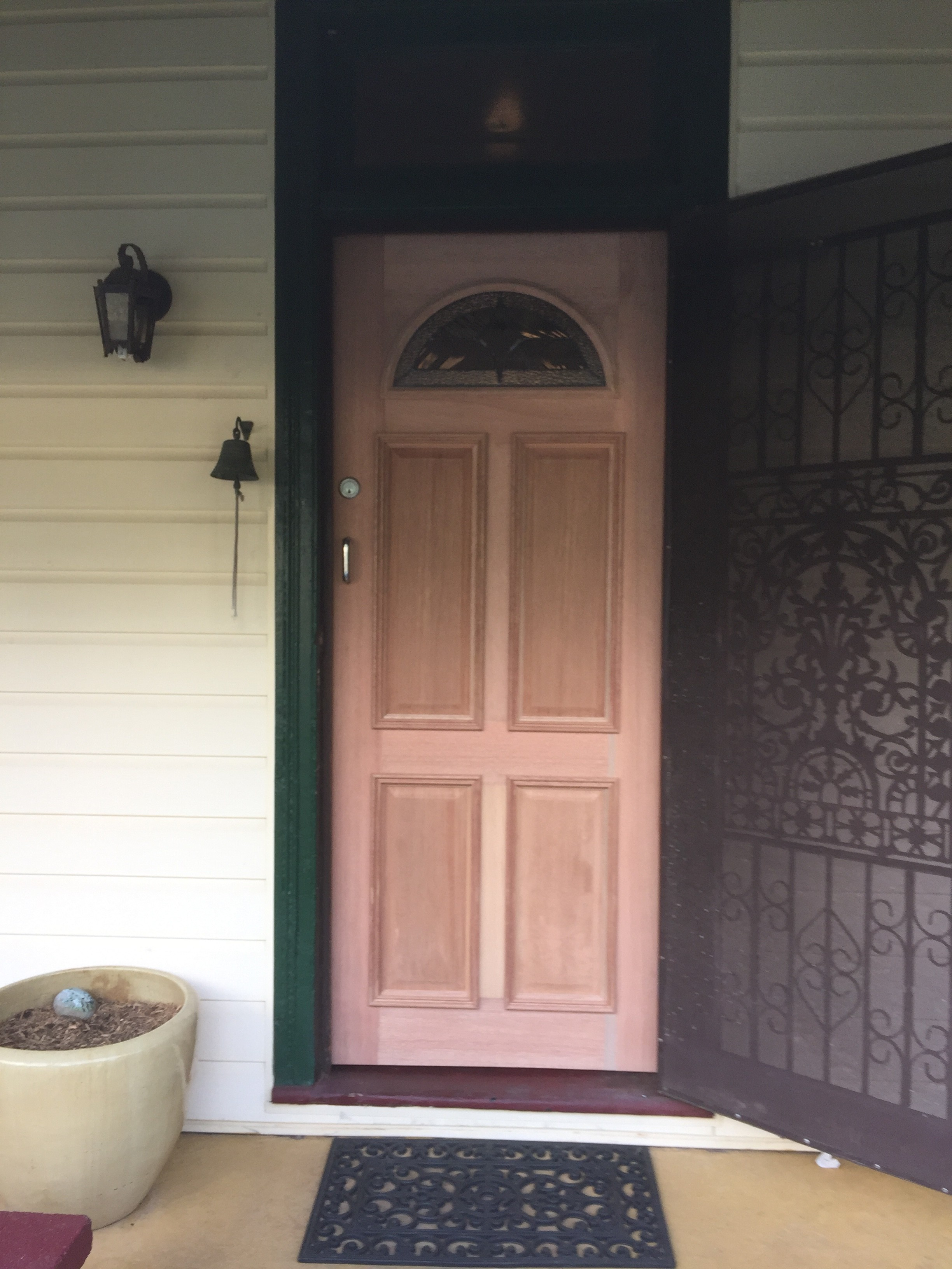 8 - New Half Moon Entry Door